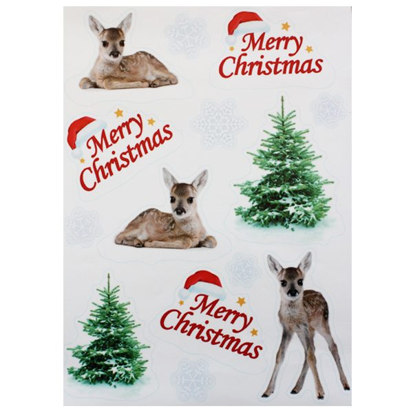 BI7543 Reindeer Window Stickers