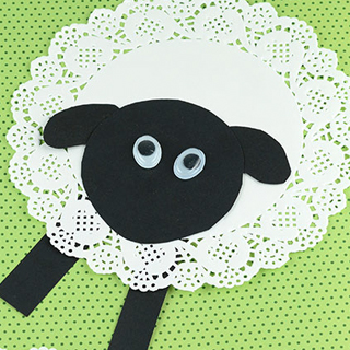 Spring craft sheep