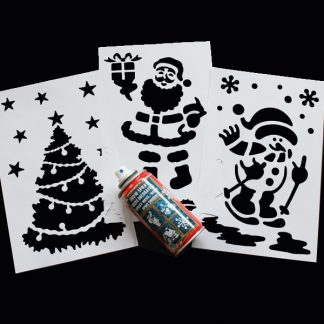 BI0025ST Snow Spray Stencil Kit