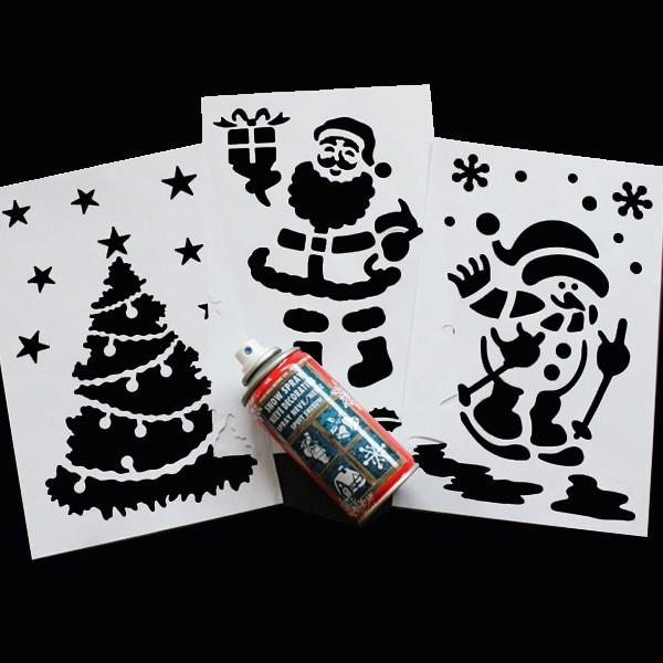 BI0025ST Snow Spray Stencil Kit