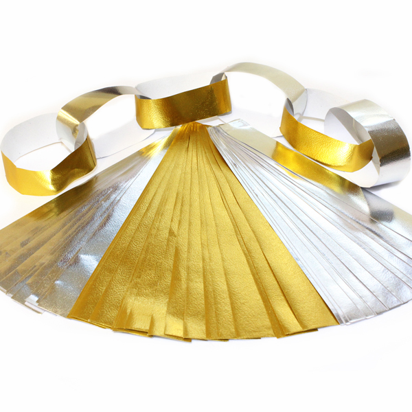 Metallic paper chains assorted bright ideas crafts for Silver foil paper craft