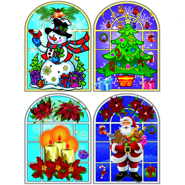 Stained Glass Window 187 Christmas Stained Glass Windows
