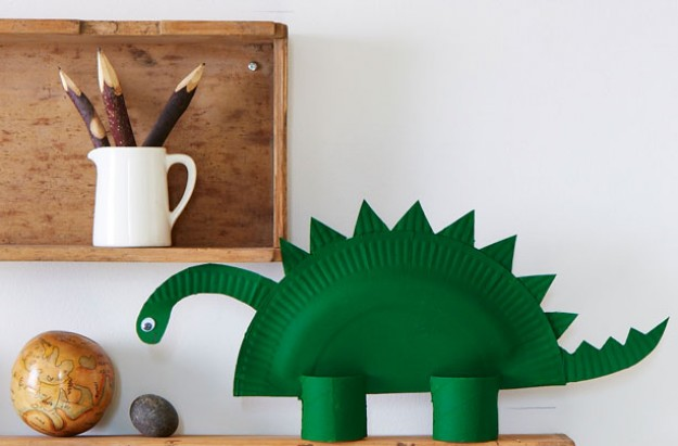 How to make a paper dinosaur - half term craft ideas