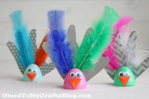 Plastic Egg Birds Half Term Craft Ideas