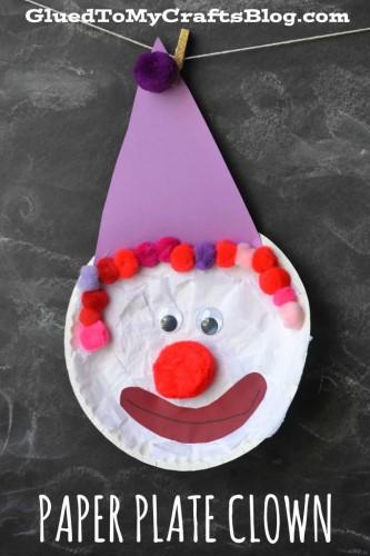 Paper Plate Clown Half Term Craft Ideas
