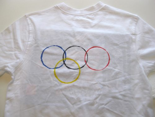 Olympics crafts - make an Olympics t-shirt