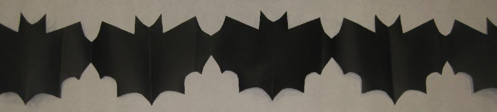 Bat Paper Chain