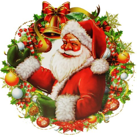 Santa Window Cling