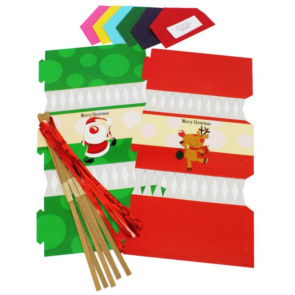 BI0406 Make Your Own Cracker Santa Reindeer PK06