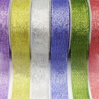 Metallic Ribbons Asst 18mm x 3m PK06