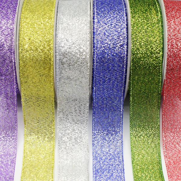 Metallic Ribbons Asst 18mm x 3m PK06