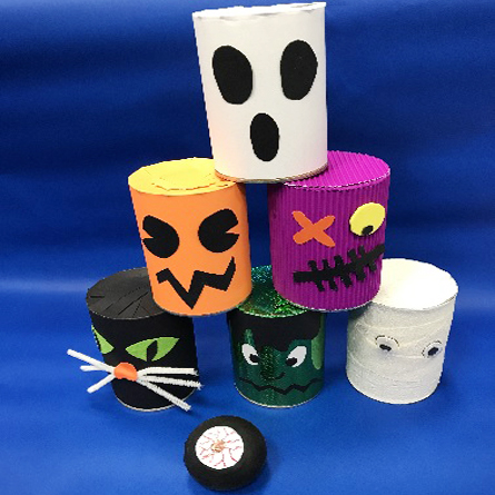 Halloween Tin Can Bowling Game