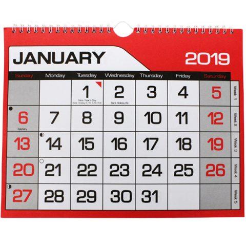 2019 Easy View Calendar