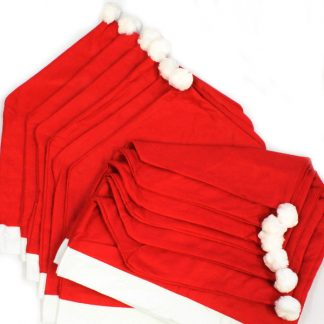 BI2102 Santa Hat Chair Covers PK12