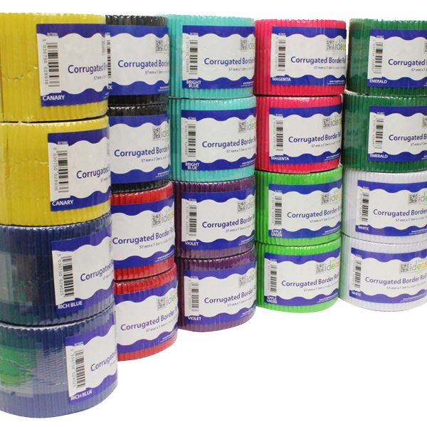 Assorted Corrugated Border Roll