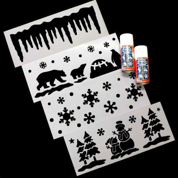 BI0025ST1 Stencil and Snow Spray