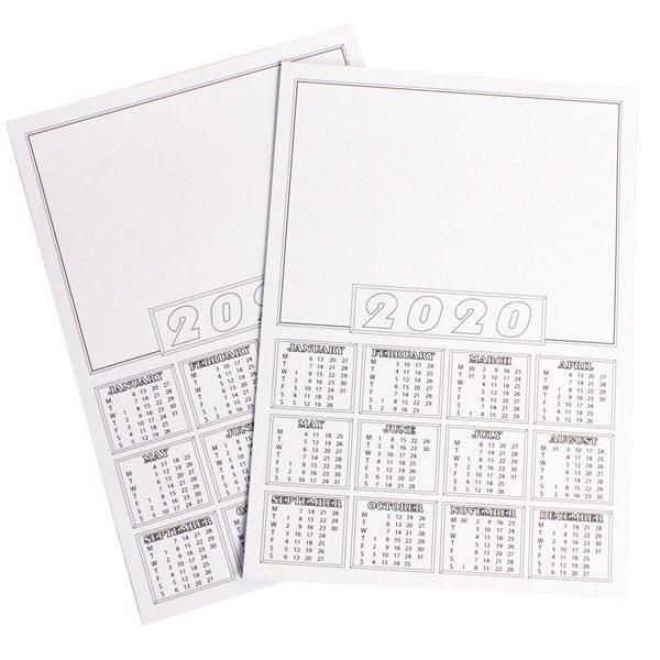 BI0481(20) 2020 Calendar Blanks A4 PK50