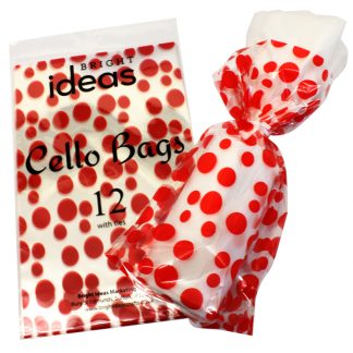 BI2623 Cello Bags Dots PK12