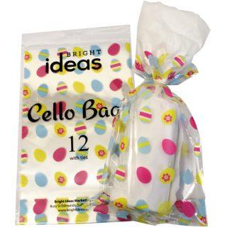BI2624 Cello Bags Easter PK12