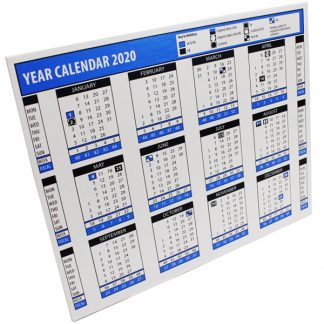 BI0453(20) 2020 Year Desk Calendar