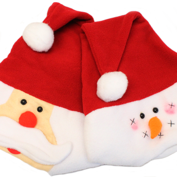 Christmas Fleece.Christmas Fleece Santa Snowman Hats