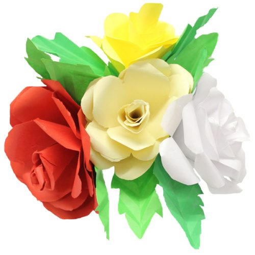 How To Make A Mother S Day Paper Rose Bouquet Bright Ideas Crafts