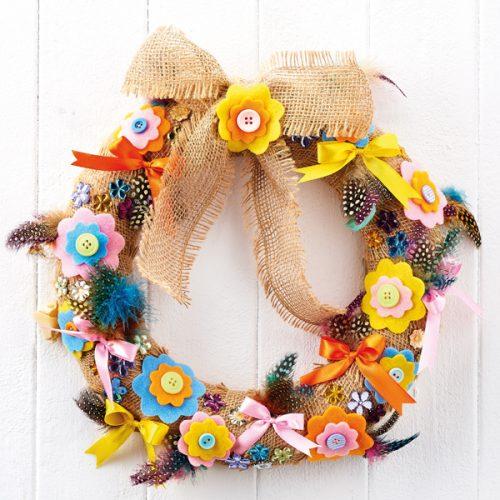wreath or home decor gift Springtime Flower burst array decoration for gift basket