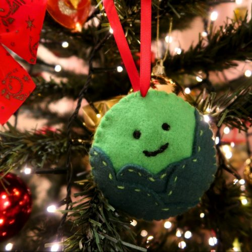 Felt Brussels Sprout Decoration