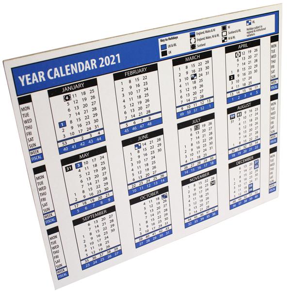 2021 Year Desk Calendar