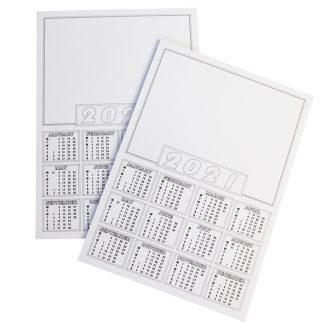 2021 Calendar Blanks A4 PK50