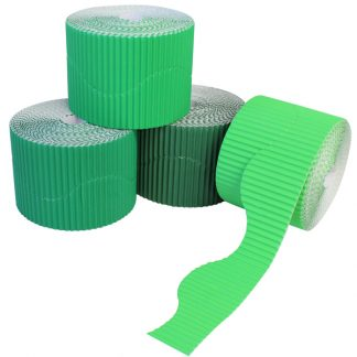BI7872 Green Corrugated Border Rolls Wavy PK04