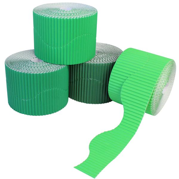 BI7872 Green Corrugated Border Rolls Wavy PK04