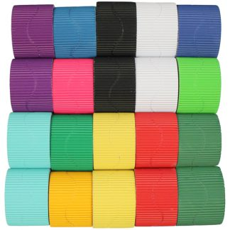 Assorted Corrugated Border Rolls PK20
