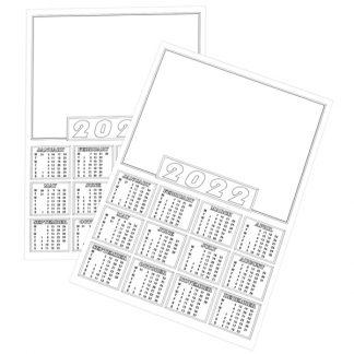 BI0481(22) Calendar Blanks A4 PK50